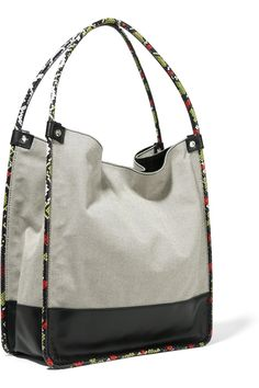 Proenza Schouler | Ayers and leather-trimmed canvas tote | NET-A-PORTER.COM