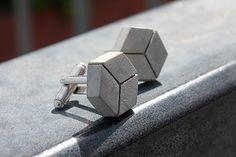 cubelinks  Manschettenknöpfe aus Beton von betonIDEE auf Etsy