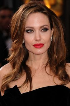 For Angelina Jolie's hair color, ask your stylist for Aloxxi Color Personality CIAO BELLA™ | Brown Hair | Brunette Hair | Celebrity Hair | Long Brown Hair | #WhatsYourColorPersonality
