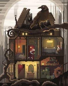 Pixel Art illustrations by Octavi Navarro www.pixelshuh.com Support my work on Patreon: www.patreon.com/pixelshuh