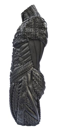 Side View of Recycled Tire Sculpture by Artist Blake McFarland