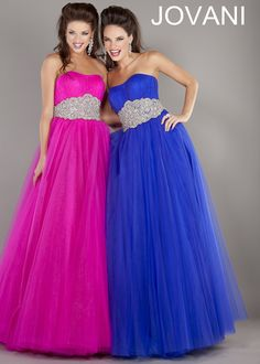 Strapless beaded ball gown - Jovani 7474