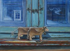 Ruta Korshunova 5 березня 2015    ·  коровы из тенны. 40х30, холст, масло