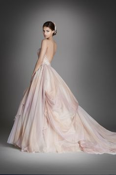 Lazaro wedding dress. Watercolor. Bridal collection 2015-2016.