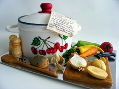 Vegetable soup cake