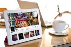 Tech #ipad #instagram #notebook #app #technology #tea #relax #sunlight