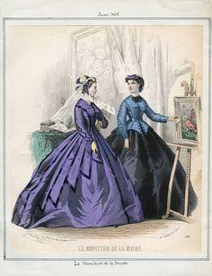 Le Moniteur de la Mode, June 1865. LAPL Visual Collections.  Civil War Era Fashion Plate