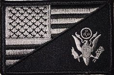 USA Flag / US Army Force Embroidered Patch - By Patch Squad - High Quality Embroidered Patch - Velcro Hook backing for attachment to Tactical Hats and Gear - Can be used with Condor, Tru-Spec and othe
