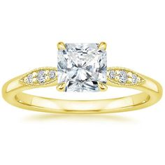 Radiant Cut Isadora Diamond Engagement Ring - 18K Yellow Gold