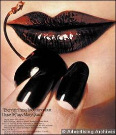 A advert for Mary Quant nail polish // certainly ahead of the game she was. Mary Quant, Vintage Nails, Vintage Makeup, Vintage Beauty, Retro Makeup, Vintage Fashion, Black Cherry Nails, Exotic Nails, She Walks In Beauty