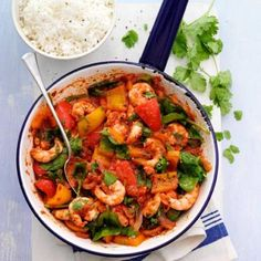 Using a ready-made paste for this prawn and pepper curry gives authentic flavour so you don't need to reach for endless spices.
