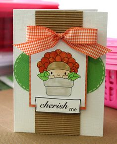 Chi Chi Memories digital stamps. Cute card made by Kerry Kung. For more cuteness, visit http://www.chichimemories.com