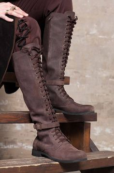f0c79889c4445 Knee high mens boots / Lace up medieval leather boots / Cosplay leather  shoes