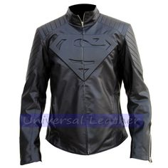 Superman Smallville Man of Steel Shield Jacket in Top Quality Faux Leather