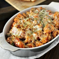 In 20 minutes you can have a delicious, hearty, vegetarian pasta bake for dinner! Filled with zucchini & mushrooms, this pasta is delicious!