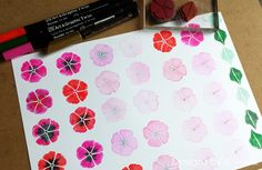 Been playing the some new pens, Kuretake UK Zig Art and Graphic twin Markers with my Designs by Georgina Floral Silhouettes stamp set - http://designsbygeorgina.blogspot.co.uk/2016/07/blooming-lovely-pens.htmlhttp://www.designsbygeorgina.co.uk/prod…/floral-silhouettes/  I have been using the pens to colour directly onto the rubber stamp and then stamping. More photo and details on the blog -