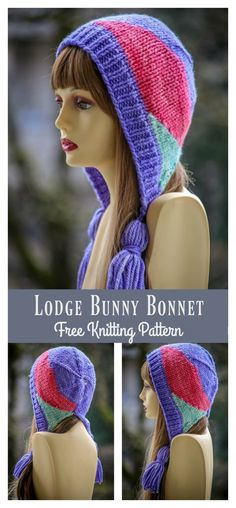 Lodge Bunny Bonnet Free Knitting Pattern Lodge Bunny Bonnet Free Knitting Pattern History of Knitting Yarn rotating, weaving and stitching careers such as for ex. Bamboo Knitting Needles, Loom Knitting, Free Knitting, Teddy Bear Knitting Pattern, Baby Knitting Patterns, Hat Patterns, Knitting Basics, Knitting Projects, Bonnet Pattern