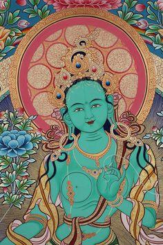 Green Tara, Buddha Painting, Buddhist Art, Divine Feminine, Tantra, Ancient Art, Buddhism, Princess Zelda, Fictional Characters
