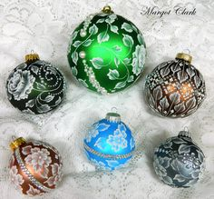 Love to add Bling to my MUD Ornaments! Margot Clark