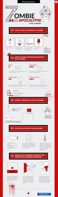Surviving a Workplace Zombie Apocalypse the Infographic