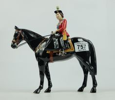 Top 25 Highest Selling Lots - Collectors & General Auction – Lot 757 – Beswick Queen Elizabeth On Black Burmese limited edition of 500.  Sale Price £185.00
