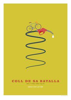 Coll de sa Batalla Cycling Poster Cycling Hill Climb