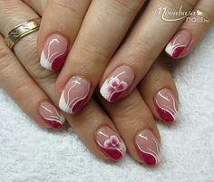 cool 50 Cute Pink Nail Art Designs for Beginners: 2015 Elegant Nail Designs, Short Nail Designs, Gel Nail Designs, Classy Nails, Cute Nails, Pretty Nails, Gel Nail Art, Gel Nails, Nail Polish
