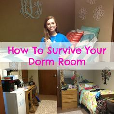 My Life As Hayden: How To Survive Your Dorm Room. This is a great guide for what to pack for each section of your dorm. College Years, College Dorm Rooms, College Life, Uni Dorm, Freshman Year, College Essentials, College Hacks, Dorm Hacks, College Survival