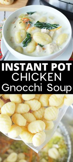 This copycat version of Olive Garden& Chicken Gnocchi Soup is easily made using your Instant Pot. This is a very popular Instapot Soup recipe for a good reason, it is delicious! Crock Pot Recipes, Instapot Soup Recipes, Cooking Recipes, Instapot Recipes Chicken, Instant Pot Pasta Recipe, Best Instant Pot Recipe, Instant Recipes, Instant Pot Dinner Recipes, Olive Garden Chicken Gnocchi
