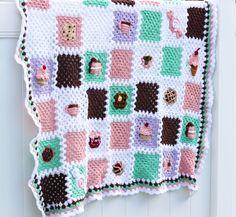 The Bake Shop Blanket Series! Crochet afghan by Sewrella