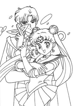 Sailor Moon Lhomme Masque Et Luna