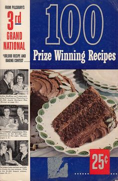 100 Prize Winning Recipes Pillsbury 3rd Grand National 1952 Cookbook