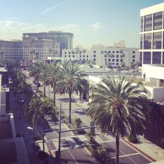 The view of Rodeo Drive and @Beverly Wilshire (A Four Seasons Hotel) from Luxe Rodeo Drive Hotel's Penthouse terrace.