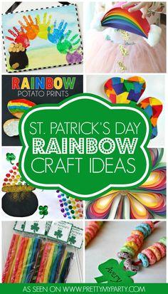 10 St. Patrick's Day Rainbow Craft Ideas   Pretty My Party
