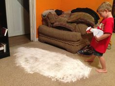 Year old carpet stains gone - sprinkle baking soda, then spray vinegar/water 50/50 mix until paste. Leave for hours, scrub then vacuum up.