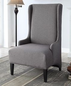 Love this Charcoal Tall Back Chair on #zulily! #zulilyfinds