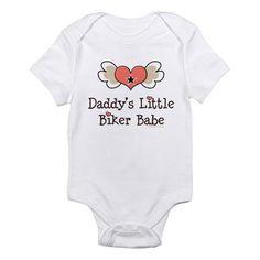 Daddy's Little Biker Babe Infant Bodysuit