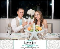 Naples Beach Hotel | Naples Wedding Photographer | Jamie Lee Photography | Bride and Groom Toasting with Champagne Glasses at Beach Themed Wedding Reception