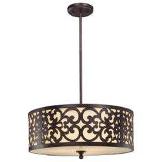 Dream pendant.  Minka Lavery 3-Light Iron Oxide Pendant-1494-357 at The Home Depot