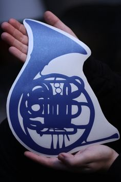 How I Met Your Mother Blue French Horn Wall by PeelAndStickDecals, $9.99