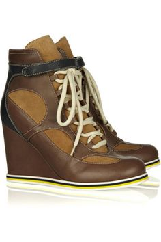 Lately we've been feeling the sneaker heel...where do you stand? See by Chloé sneaker-style ankle boots, $395.
