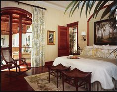Florida Design Sources Online is a site dedicated to finding the best sources for fine interior design and furnishings West Indies Decor, West Indies Style, British Colonial Bedroom, British Colonial Style, Tropical Bedrooms, Florida Design, Interior Design Magazine, Home Design, Design Ideas