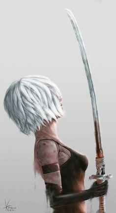 Me Anime, Fanarts Anime, Anime Art, Character Concept, Character Art, Character Design, Nier Automata A2, A2 Nier, Drakengard Nier