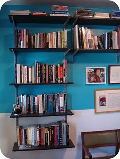 rubbermaid rails with ikea shelves cheap office shelving