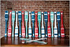 Oar table markers: http://www.stylemepretty.com/2015/06/26/lovewins-for-modern-nautical-wedding-at-liberty-warehouse/ | Photography: Dave Robbins - http://www.daverobbinsphotography.com/