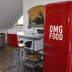 OMG Food Refrigerator Decal: Funny Foodie Fridge Decal by iinky