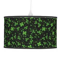 #Black #Irish #Shamrocks Hanging #Lamp $87.95