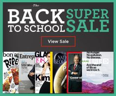 HOT WEEKEND MAGAZINE SALE!! Save on the Back to School Sale from Discount Mags! Rolling Stone, Weight Watchers, kids mags and more! Starting at $4.50!  Click the link below to get all of the details ► http://www.thecouponingcouple.com/discount-mags-back-to-school-sale-starting-at-4-50/  #Coupons #Couponing #CouponCommunity  Visit us at http://www.thecouponingcouple.com for more great posts!