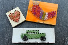 Helmoja ja hepeneitä : DIY lankataulu - String art DIY Crafts To Do, Wood Crafts, Crafts For Kids, Arts And Crafts, Textile Fabrics, Elementary Art, Learning Activities, Happy Friday, Projects To Try