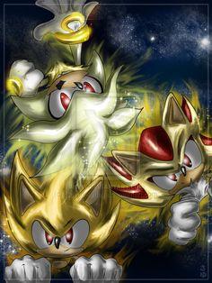 Super: Sonic..Shadow...Silver by Sayuri-Amaya.deviantart.com on @deviantART